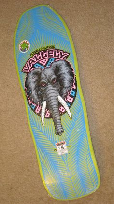 Mike Vallely Powell Peralta Skateboard Bones Brigade Elephant re Issue Old  V  385bd81790f
