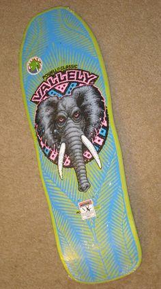 Mike Vallely Powell Peralta Skateboard Bones Brigade Elephant re Issue Old V | eBay