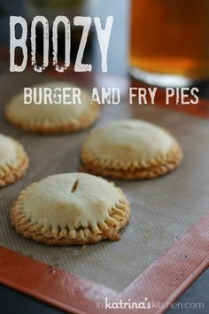 Boozy Burger and Fry Pies Recipe (and Cheddar Ale Dip)