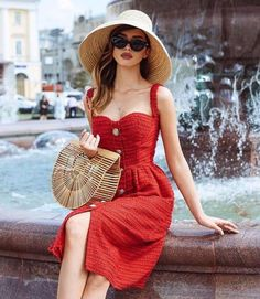 Outfit Ideas for the Fifa World Cup 2018 dress pants trendy outfits perfect outfit summer dress trendy outfits Summer Dress Outfits, Spring Outfits, Casual Outfits, Cute Outfits, Dress Summer, Red Dress Casual, Best Summer Dresses, Fashionable Outfits, Look Fashion