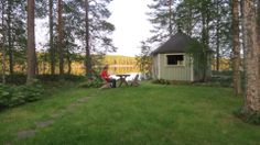 July 2013. It is 22 o'clock. I love finnish summer nights! Reading.