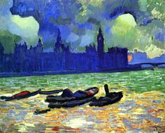 The Athenaeum - Houses of Parliament at Night, London (Andre Derain - )