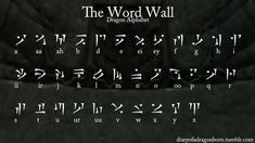 The Word Wall Dragon Alphabet by spartin-117 font language painting drawing resource tool how to tutorial instructions | Create your own roleplaying game material w/ RPG Bard: www.rpgbard.com | Writing inspiration for Dungeons and Dragons DND D&D Pathfinder PFRPG Warhammer 40k Star Wars Shadowrun Call of Cthulhu Lord of the Rings LoTR + d20 fantasy science fiction scifi horror design | Not Trusty Sword art: click artwork for source