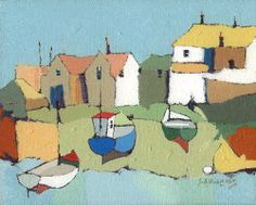'Newlyn Old Harbour' - by Stewart Middlemas.