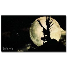 Death Note Japanese Anime Silk Poster Print 12x21 20x36 inch Ryuuku  #Modernism