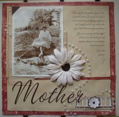 Vintage Mother scrapbook page