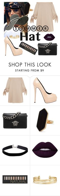 """Untitled #141"" by julietarequena on Polyvore featuring TIBI, Giuseppe Zanotti, Versace, Jaeger, Miss Selfridge, Lime Crime, Forever 21, Stella & Dot and summerhat"