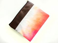 Zip iPad Case Sleeve Pouch in Tequila Sunrise Ombre by Mclovebuddy, $68.00