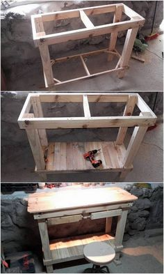 Incredible Ideas for Upcycling Shipping Wood Pallets: Wood pallet furniture ideas are one such extraordinary choices for your home that will never disappoint you at all. Wood Pallet Art, Wood Pallet Furniture, Recycled Furniture, Diy Pallet, Pallet Ideas, Furniture Ideas, Recycled Pallets, Wooden Pallets, Pallet Kitchen Island