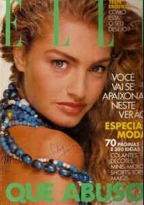 Beauty And Fashion Michaela Bercu, Minis, Elle Magazine, Magazine Covers, Big Shoulders, Big Jewelry, Layered Look, Big Hair, Shoulder Pads