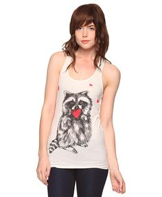Raccoon hearts top at #forever21