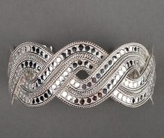 Large Woven Cuff by Anna Beck - Silverscape Designs