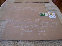 love the handwritten envelopes