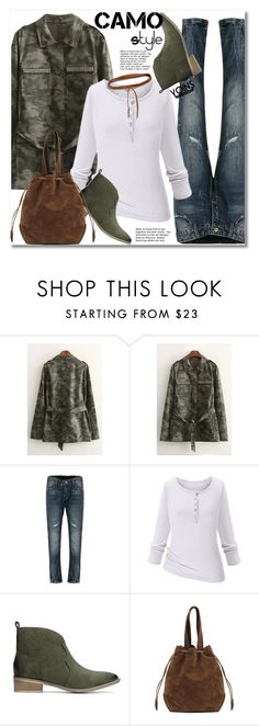 """""""CAMO style"""" by svijetlana ❤ liked on Polyvore featuring Reclaimed Vintage and camostyle"""
