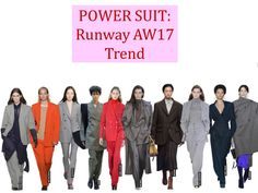 Straight from the catwalks, the power suit trend will be a workwear staple for AW17.  Get the look on Pynck.com:
