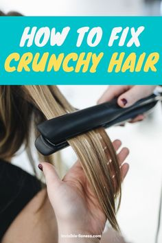Are you looking for remedies for crunchy hair? These tips for remedies will teach you how to get rid of that crunchy hair problem! Long Hair Tips, Grow Long Hair, Easy Hairstyles For Long Hair, Healthy Hair Tips, Healthy Hair Growth, Hair Growth Tips, Vitamins For Hair Growth, Hair Vitamins, Diy Hair Care