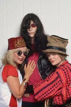 Debra Harry, Joey Ramone, and Tina Weymouth
