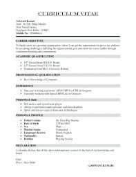 Image Result For Curriculum Vitae Model In Word Agenda Pinterest