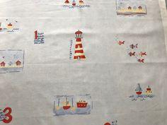 Casadeco Cotton 'Seaside' Boat Fabric - Blue With Nautical Design Fat Quarter   eBay