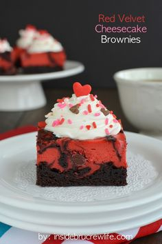 Red Velvet Cheesecake Brownies - a delicious and pretty cheesecake brownie that is perfect for celebrating with your loved ones