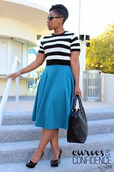 High Waist Midi Skirt + Cropped Sweater