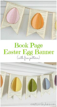This Easter Egg Banner is so easy to make, and so cute!