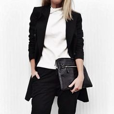 love the turtleneck with the oversized blazer                                                                                                                                                                                 More