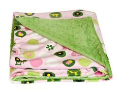 Minky John Deere Blanket.    Plush and sumptuously soft  35 X 35 pink and john deere green minky baby blanket by SheBellaBirk on Etsy