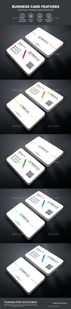 Buy Business Cards by DreamStudio-eg on GraphicRiver. FEATURES: Easy customizable and editable design Business card in with bleed CMYK Color 05 Color Variant R. Make Business Cards, Vintage Business Cards, Minimal Business Card, Artist Business Cards, Modern Business Cards, Business Card Design, Business Professional, Corporate Business, Business Goals