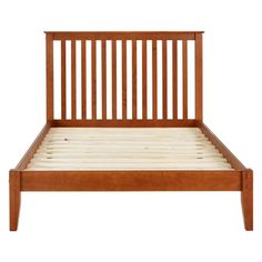 Queen Mission Style Solid Wood Platform Bed Frame With
