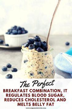 A Healthy Breakfast: The Perfect Breakfast Combination It Regulates Blood Sugar Reduces Cholesterol And Melts Belly Fat. Healthy Drinks, Healthy Tips, Healthy Snacks, Healthy Eating, Healthy Recipes, Healthy Breakfasts, Healthy Fruits, Healthy Cooking, Healthy Weight
