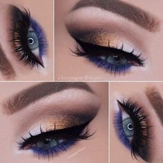 Gorgeous Makeup: Tips and Tricks With Eye Makeup and Eyeshadow – Makeup Design Ideas Hazel Eye Makeup, Hooded Eye Makeup, Blue Eye Makeup, Eye Makeup Tips, Makeup For Brown Eyes, Makeup Ideas, Glowy Makeup, Makeup Tools, Nail Ideas