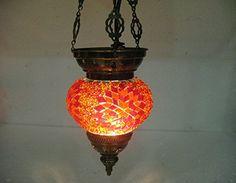 Orange moroccan lantern Orange mosaic hanging lamp glass chandelier light turkish candle holder 202 handmade_antiques http://www.amazon.com/dp/B01EG5K4H8/ref=cm_sw_r_pi_dp_BVpfxb0HGX78D