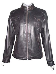 889d890041e Paccilo Women 4047 Larger Plus Size Lambskin Leather Motorcycle Jacket YKK  Original Zipper Front