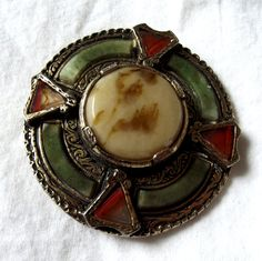 Antique Jewelry, Vintage Brooch Pin, Signed Miracle, Scottish, Celtic, Medieval…