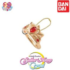 GASHAPON BANDAI Sailor Moon Die-cast Ring Charm Keychain  (Serenity tiara) #Bandai