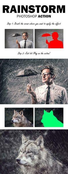 GraphicRiver RainStorm Photoshop Action