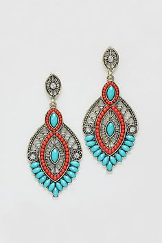 Misha Chandelier Earrings in Fire and Ice