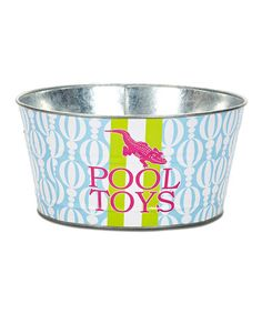 perfect to take with you to the beach house for vacay!! keep em all together!! Take a look at this Nico Pool Party Tub by The MacBeth Collection on #zulily today!