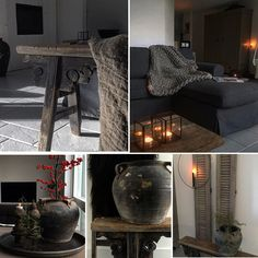 MyHome! Sober wonen interieur Colour Combinations Interior, Decorating Rooms, Sober, Room Decor, Rustic, Decoration, Black, Country Primitive, Decor