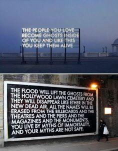 Billboard Typography by Robert Montgomery