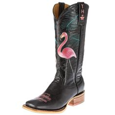Women's Flamingo Cowgirl Boots
