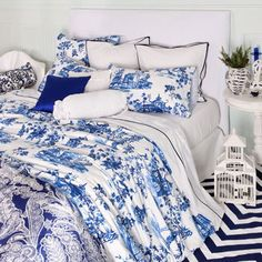 Apparently I like blue and white toile.