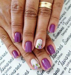 100 Fotos de Unhas decoradas Românticas Manicure Y Pedicure, Glitter, Simple Nails, Nail Designs, Nail Art, Pretty, Beauty, Wallpaper, Nail Hacks