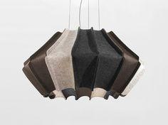 Lámpara colgante de fieltro Colección Joseph by DIX HEURES DIX | diseño Ludovic Roth