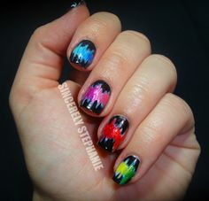 I am in love with these nails. If only I knew how to paint mine this way! Except the thumb, I don't dig the thumb, ha.