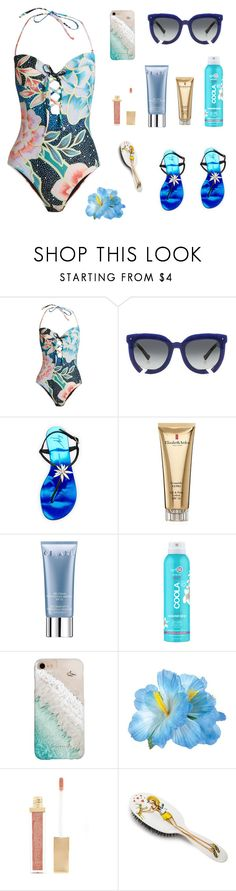"""Beach styling"" by ivanazb ❤ liked on Polyvore featuring Mara Hoffman, Grey Ant, Giuseppe Zanotti, Elizabeth Arden, Orlane, COOLA Suncare, Gray Malin, Forever 21 and Rock & Ruddle"