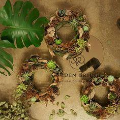 plant arrangement wreath a GardenBridge academy seoul korea