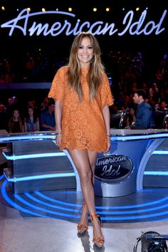 "Jennifer Lopez onstage at FOX's American Idol season 14 ""Top 12 Revealed"" on March 11, 2015, in Hollywood, California.   - Cosmopolitan.com"
