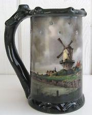 GEROLD PORZELLAN Puzzle Stein Beer Mug Windmill Germany Bavaria Nude Lithopane